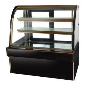 Buy cheap affichage noir de boulangerie de réfrigérateur de gâteau de marbre d'étalage de from wholesalers