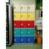 China プールの貯蔵のための赤く/黄色/Buleのドア プラスチック学校のロッカー5層 wholesale