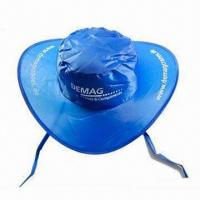 China Sun Visor/Promotional Cap with Matching Pouch, Made of Nylon wholesale