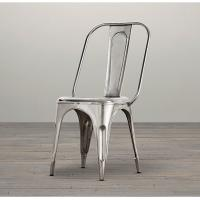 Modern Stackable Metal Wood Dining Chairs , red grey Silver dining chairs metal frame
