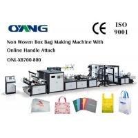 China Multi Function Auto Non Woven Box Bag Making Machine With Handle Fix Device wholesale