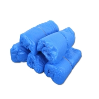 China Dark Blue 4g Disposable Polyethylene Shoe Covers on sale