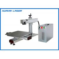 China Portable Fiber Laser Marking Machine With XY Slide For Large Size Metal Engraving on sale