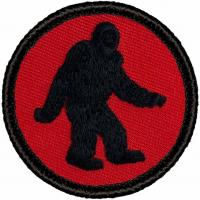 China Bigfoot Patrol Custom Woven Badges Patch Round Embroidered Patches on sale