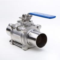China 2 Way Welding Stainless Steel Threaded Ball Valve For Gas And Water wholesale