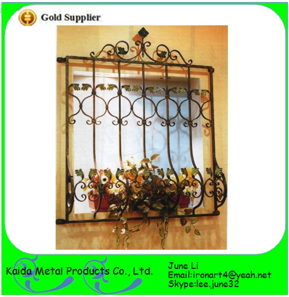 Quality high quality  wrought iron metal bar  window grill design for sale