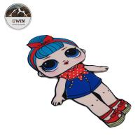 China Popular Sequin Embroidered Badge Patch LOL Various Shapes With Sew On Backing wholesale