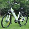 China No Pollution Womens Electric Bike White Color Range 31 - 60 Km / Per Power wholesale