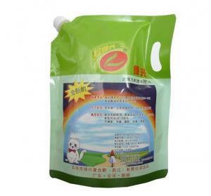 China Laminated material Die Cut Handle Reusable Detergent Sanitizer Liquid spout Bags With Spout wholesale