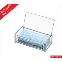 China Rectangle Tissue Acrylic Holder Stand With Slip - Open Cover wholesale