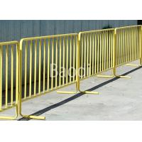China Yellow Vinyl Coated Temporary Mesh Fence For Sport Event Easily Installed wholesale