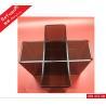 China Plexiglass Wine Bottle Stands With 5 Slots / Transparent Black Wine Display Rack wholesale