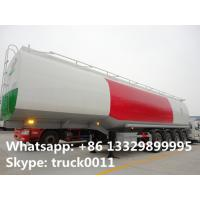 China 4 axles carbon steel fuel tank trailer 50000 liters fuel tank semi trailer fuel tank semi trailer for sale wholesale