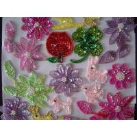 China Beaded piece flower handcraft flower Crocheted Fabrics flowere Knit craft gift wholesale