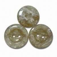 Quality Resin Buttons with Laser Logo, CPSIA/Oeko-Tex 100 Standards, Lead- and for sale