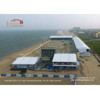 China A Shape And Double Decker Sport Event Tents With PVC And ABS Sidewall wholesale