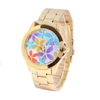 CE / RoHS Japan Movt Flower Pattern Women Wristwatches Analog Time Display