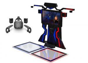 China Amusement Interactive 9D Vr Shooting Simulator VR Walk Platform For 2 Players wholesale