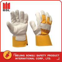 China SLG-SMT-68 goat grain leather working safety gloves wholesale