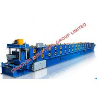 China Hydraulic Post Cutting Metal Roofing Water Gutter Roll Forming Machine 8-12m/min wholesale
