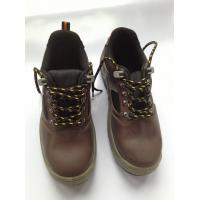 China 1.6mm - 1.8mm Buffalo Leather Heavy Duty Work Shoes With PU Outsole wholesale