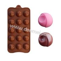 China Good Quality 15 Holes Silicone Sphere Eye Design Chocolate Mold Candy Mold wholesale