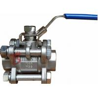 China Threaded NPT Soft Seated Ball Valve , Cast Stainless Steel Ball Valve 1000PSI wholesale