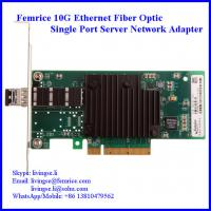 China 10G Single Port SFP+ Slot PCI Express x8 Server Network Adapter (Intel 82599 Chipset) wholesale