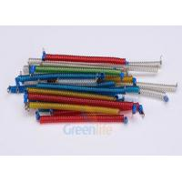 China Stainless Steel Core Coiled Security Tethers Colorful Cords With Screw Terminals wholesale