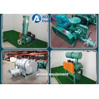 China Green Dresser Roots Rotary Lobe Blower For Electroplate Tank And Pneumativ Conveying wholesale