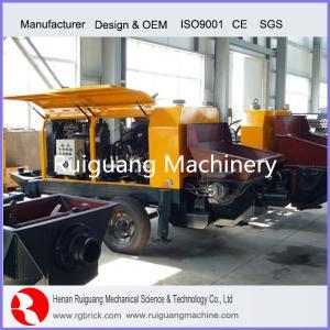 diesel engine type portable trailer concrete pump