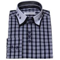 China Men's double collar shirt » Mens Contrast Double Collar Dress Shirt on sale