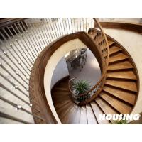 China Commercial Building Curved Staircase , Modern Stainless Steel wholesale
