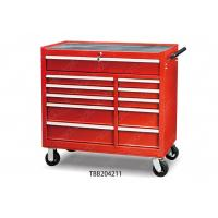 China 10 Drawer Locking Tall Metal Tool Cabinet , Rolling Tool Chest Aluminum Drawer on sale