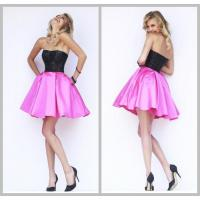 China Black Rose Satin Strapless Prom And Homecoming Dresses Fully Rock Beaded Top wholesale