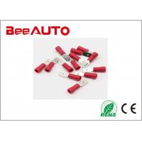 China Male Spade Insulated Electrical Crimp Connector Terminal Red Mdd 1.25-250 wholesale