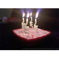 China Noctilucence Swirl Shaped Birthday Candles Art Wax Twisted Birthday Candles wholesale