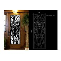 fireproof  15.5*39.37 Iron Door With Glass , Square Steel Doors With Wrought Iron And Glass