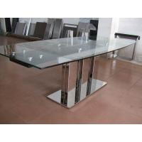 Indoor Furniture Tempering Glass Rectangular Coffee Table Transparent
