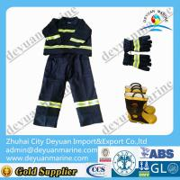 China Waterproof Fire Fighter Gear Fire Suit Jacket And Pants With Flame Retardant Layer wholesale