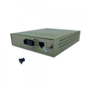 China WDM Rack Mount Fiber Media Converter , 100Mbps Fiber Cat6 Converter on sale