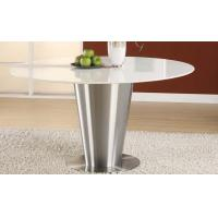 China Stainless Steel Artificial White Marble Top Round Dining Table Dia1000 * 750mm wholesale
