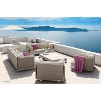 China Waterproof Rattan Modern Outdoor Furniture Corner Sofa Dining Set For Leisure Area wholesale