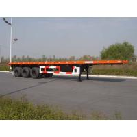 China 40ft tri axle flatbed container trailer for sale on sale