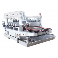 China Ten Motors Double Edge Polishing Machine , Glass Grinding Machine White Color on sale