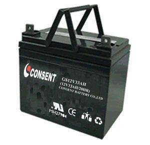 China 12v 33ah deep cycle Gel battery on sale