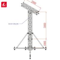 China Stand Tower Speaker Truss Facility Structure Square 300x300mm wholesale