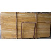 China Decorative Turkey Golden Yellow Travertine Marble texture Slab Tile wholesale