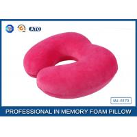Customized Soft Plush Cover U Shaped Memory Foam Travel Neck Pillow For Seated