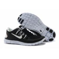 China Nike Free 5.0+ Shoes White and Black for Mens on sale